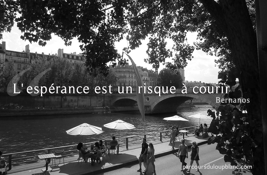 Paris-citation Bernanos l-esperance est un risque a courir
