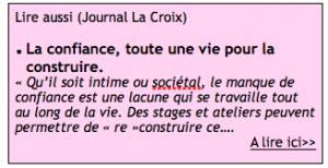 La Croix - Article Confiance- Laure de Balincourt - Parcours du Loup Blanc